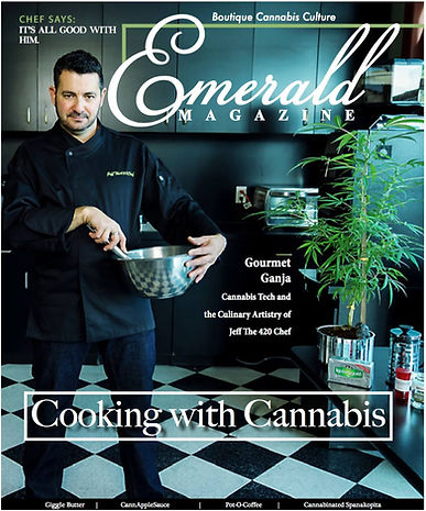 JeffThe420Chef on the Cover of Emerald Magazine
