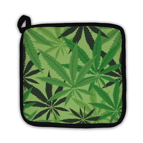 Potholder - Cannabis Leaf Print