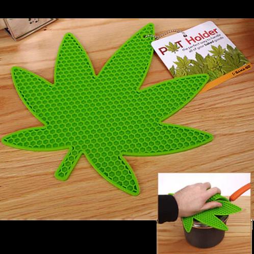 Pot Holder Cannabis Leaf