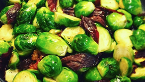 Canna-Brussel sprouts with Candied Cherry Maple Corn Beef