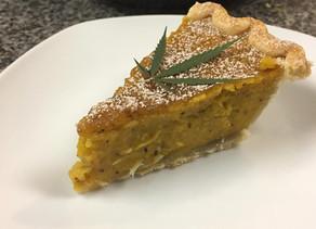 Maple Bourbon Crusted Canna-Pumpkin Pie