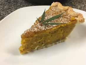 Maple Bourbon Crusted Canna-Pumpkin Pie