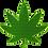 Thumbnail: Pot Holder Cannabis Leaf