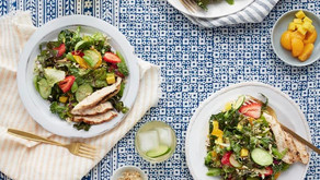 Asian Fusion Sesame Canna-Chicken Salad with Strawberry Canna-Sesame Dressing