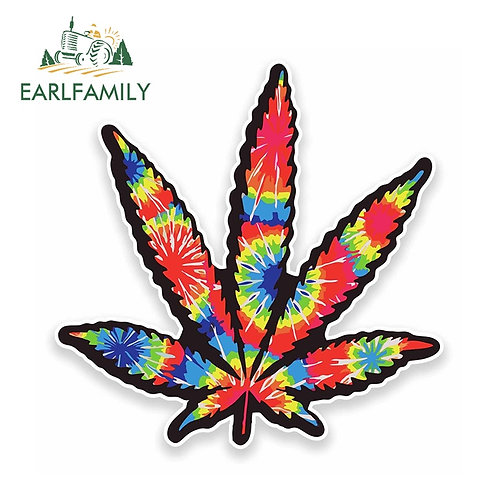 Tie-Dye Cannabis Vinyl Decal