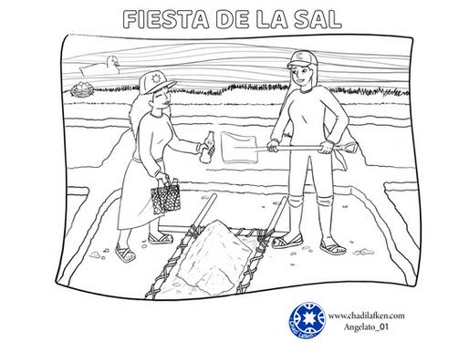 Coloreando el Centro Educativo de la Sal de Mar