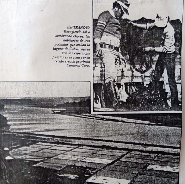 Salinas de Cahuil, año 1979