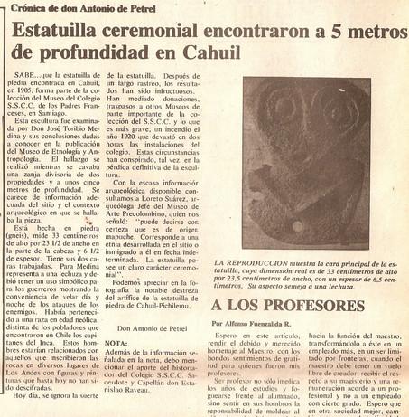 Memoria ceremonial Mapuche en Cahuil