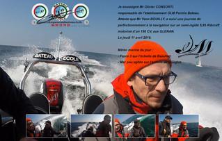 Stage aux Glénan pour Yann Bouilly guide de pêche en Normandie