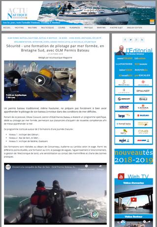 Publication Actunautique.com du 23 octobre 2018