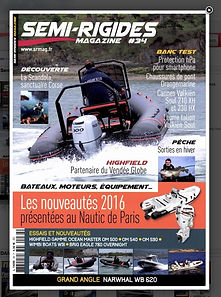 Article sur le perfectionnment à la navigation dans SEMI-RIGIDES MAGAZINE n°34 en 2015