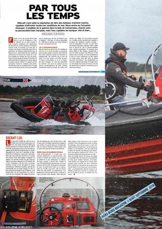 Essai RIBCRAFT avec Gruigruic dans Hors-bord magazine numéro 87