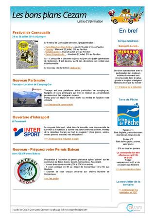 Partenariat avec Cezam Sud-Finistère