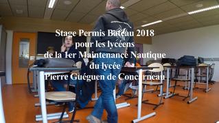 Permis bateau 2018 au lycée Pierre Guéguen de Concarneau
