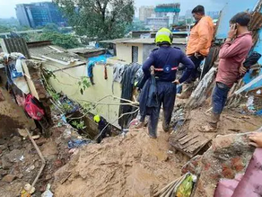 Rain-Caused Landslides Lead To 15 Deaths And Several Injuries In Mumbai
