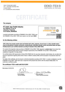 Certificate-Oekotex-PT-Indah-Jaya-2018-2