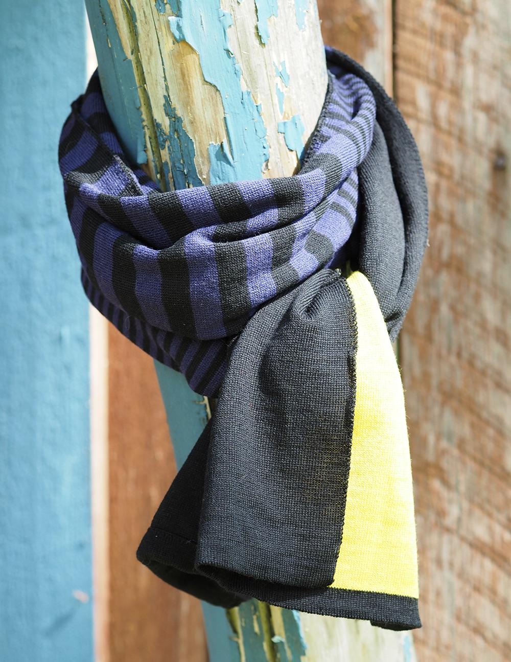 Raitahuivi, musta-violetti-keltainen