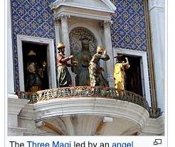サン・マルコ広場の時計台、年に2回しか見れないからくり時計を偶然、撮影