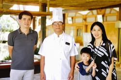 Family Pe and Jian, little Pann