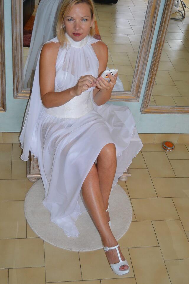 Robe de mariée transparente