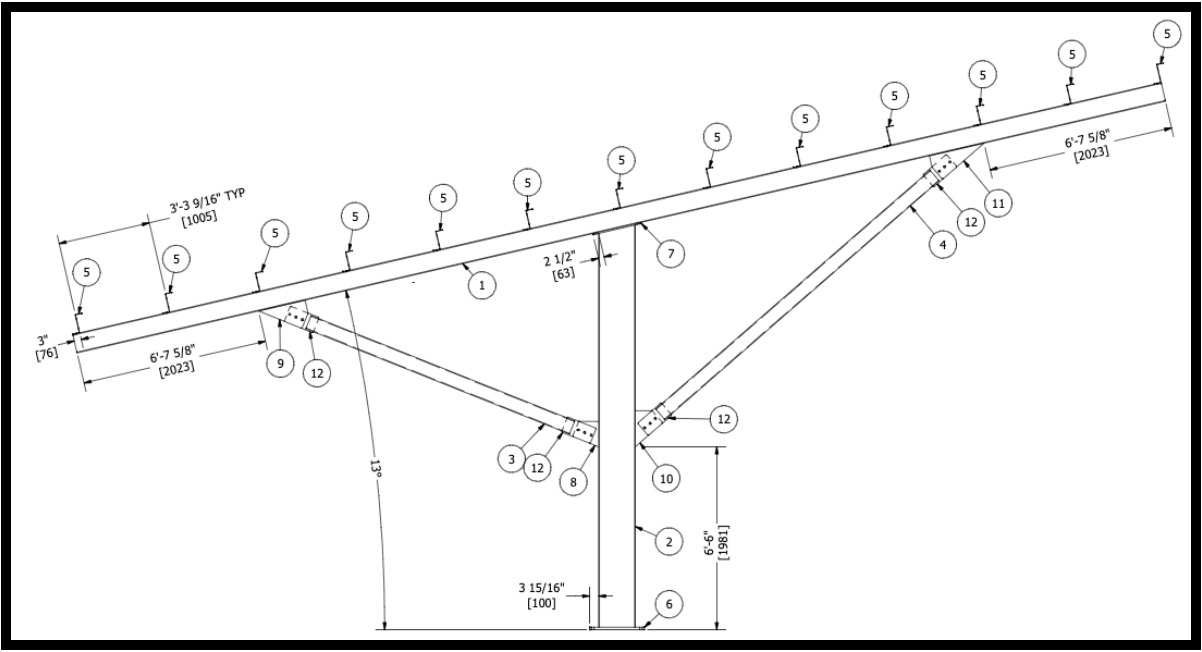 Double Wing T Frame