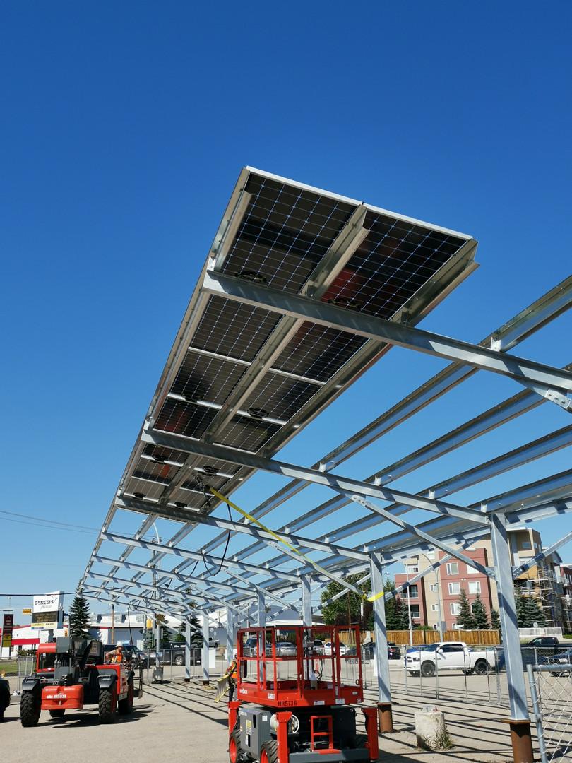Solar Carport Under Construction