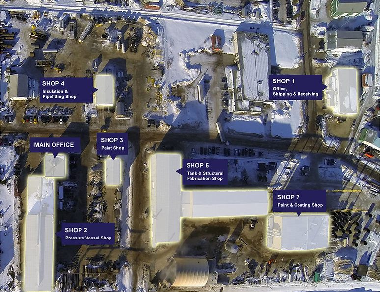 A map of our facilities in Innisfail