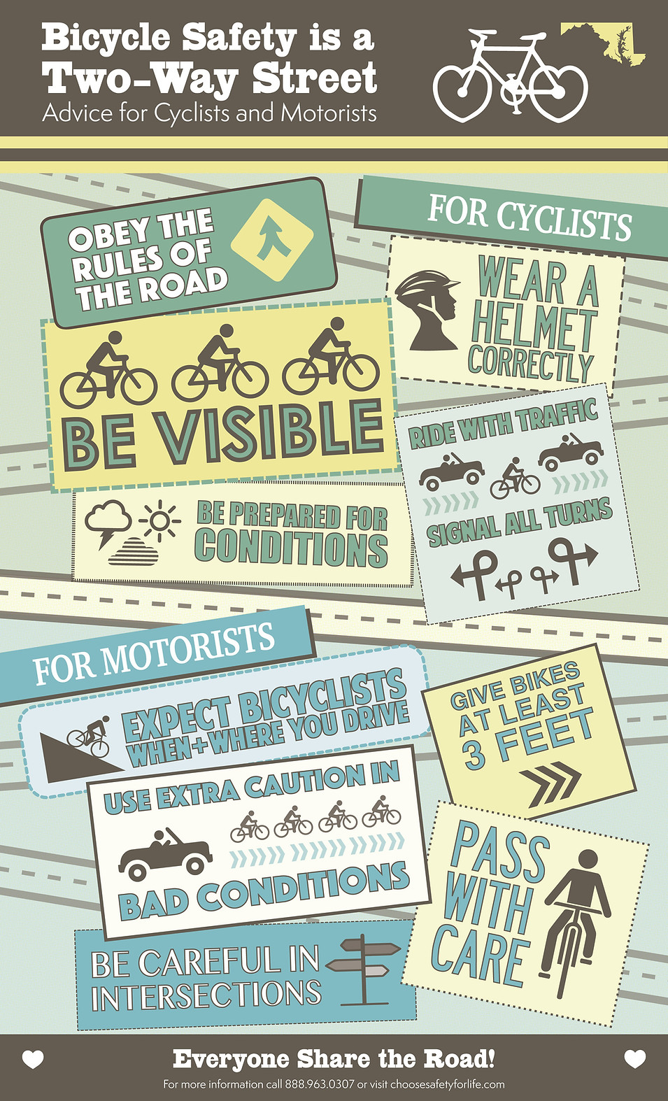 6-Color Bike Safety Infographic