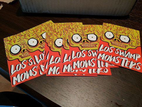 Los Swamp Monsters Band Stickers