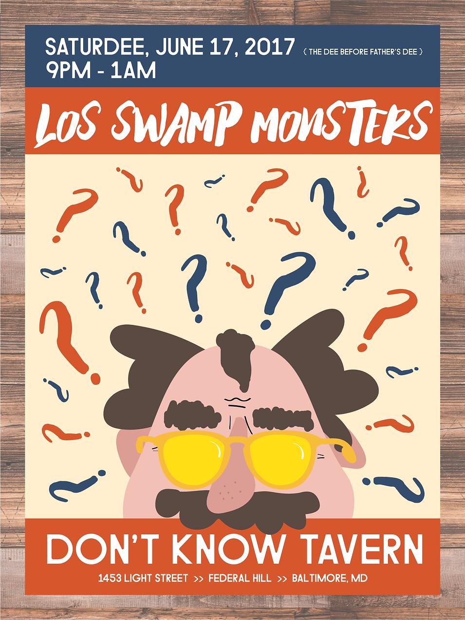 Los Swamp Monsters Poster 2017