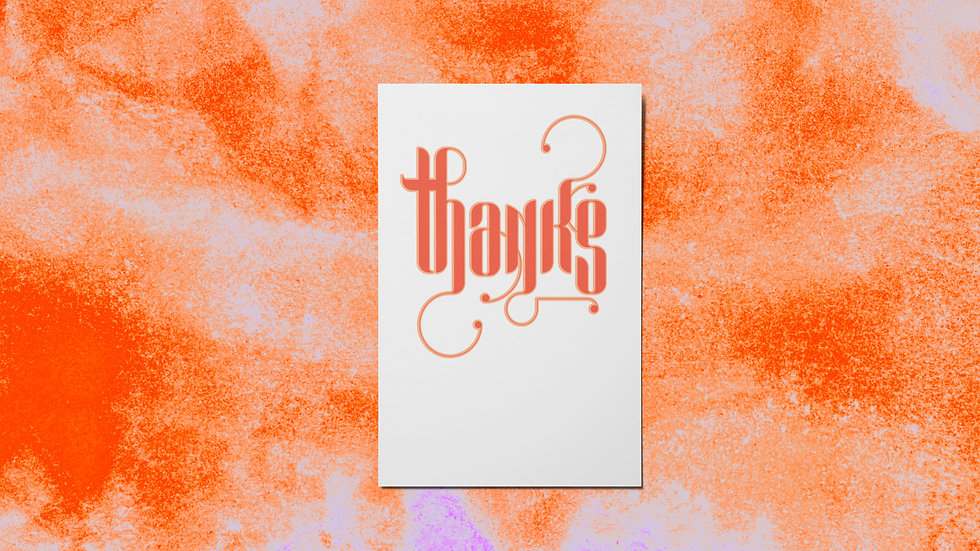 Thank You Red Mini Print