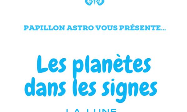 les planètes en signe