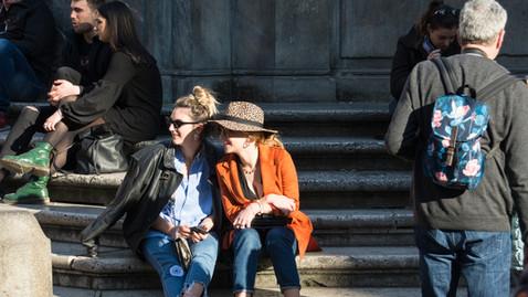 street photography a colori roma trastevere