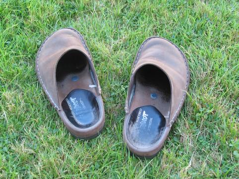 dit zijn geen wandelschoenen
