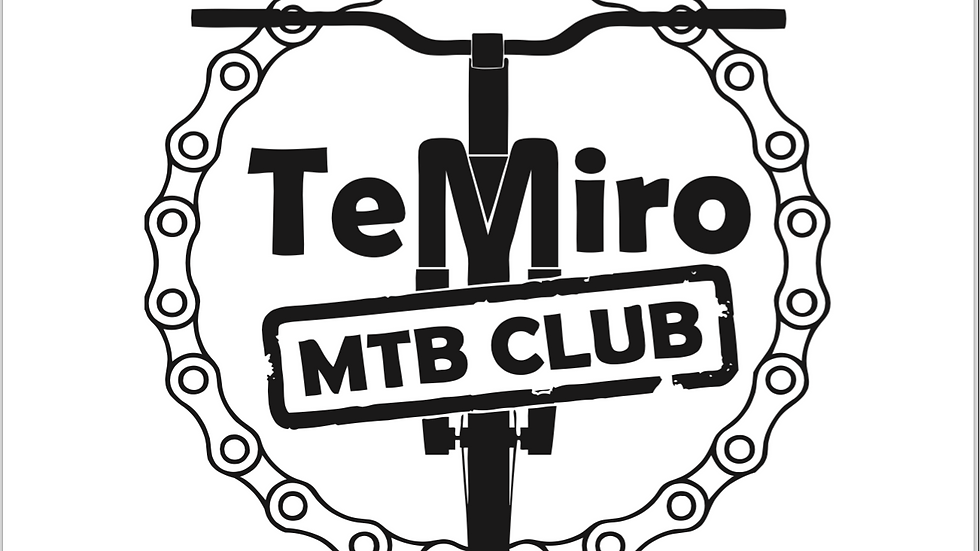 MTB Club Sticker - Large White
