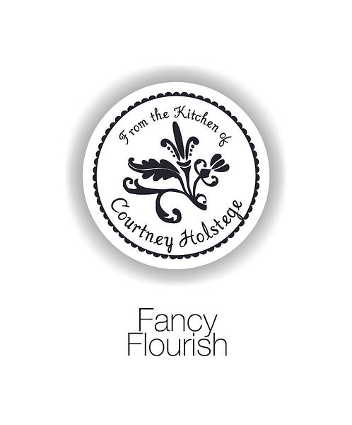 Fancy Flourish Mom Circle Label Set