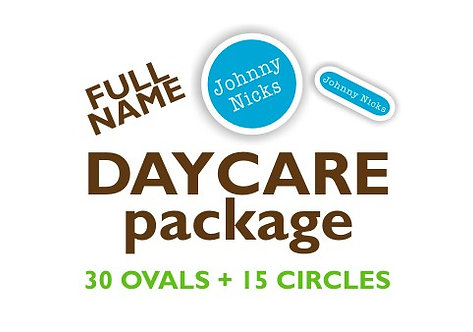 Full Name Ovals & Circles Label Set