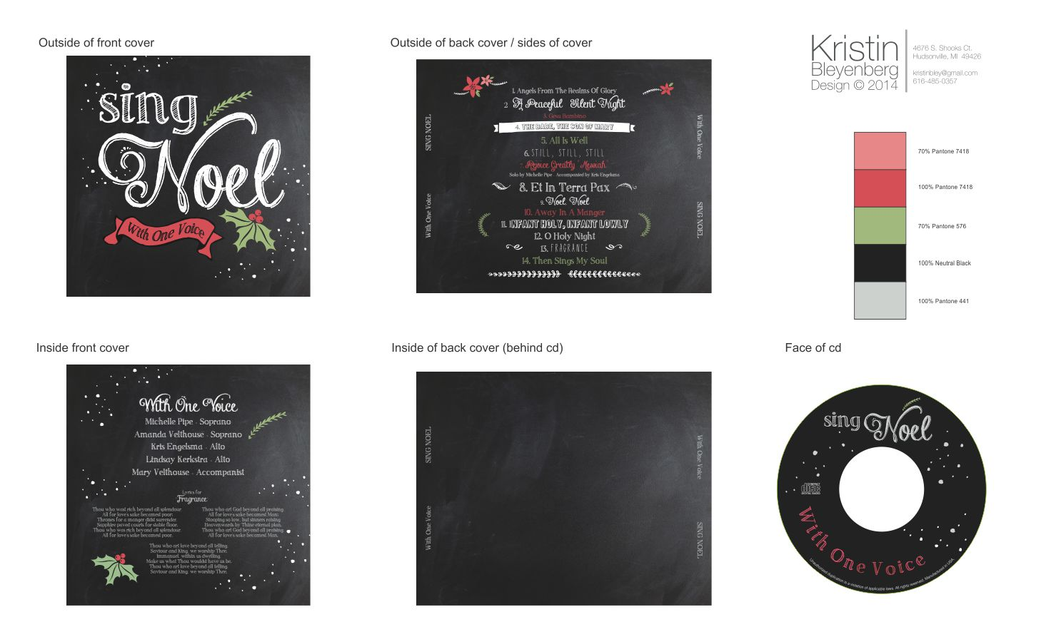 CD cover and face design