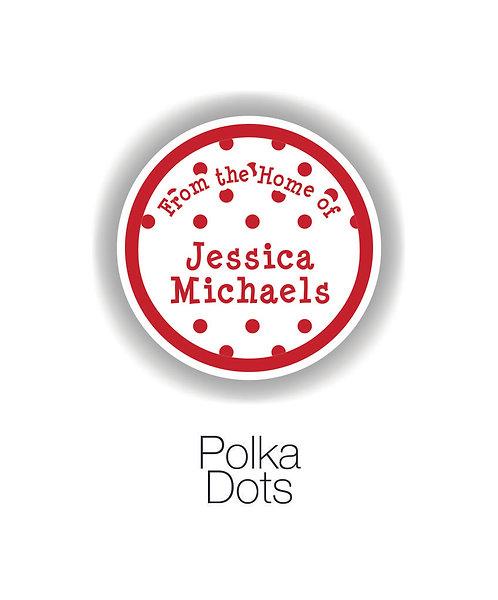 PolkaDots Mom Circle Label Set