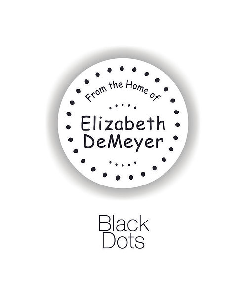 Black Dots Mom Circle Label Set