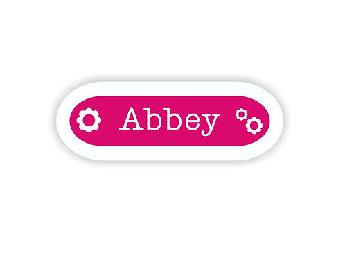 FLOWERS - Name Labels for Kids