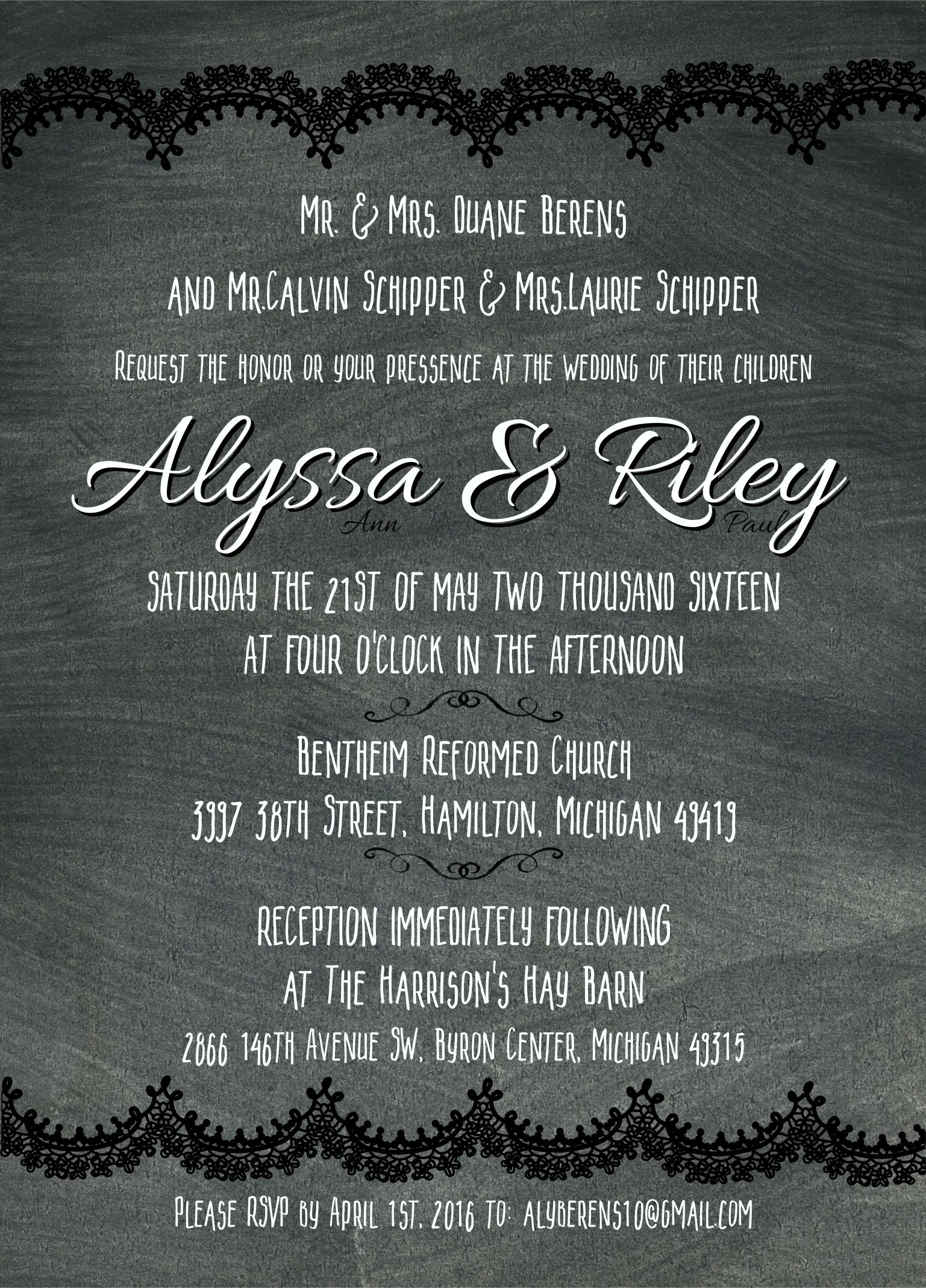 Available Invite Design!