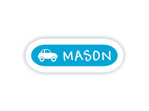 CAR - Name Labels for Kids