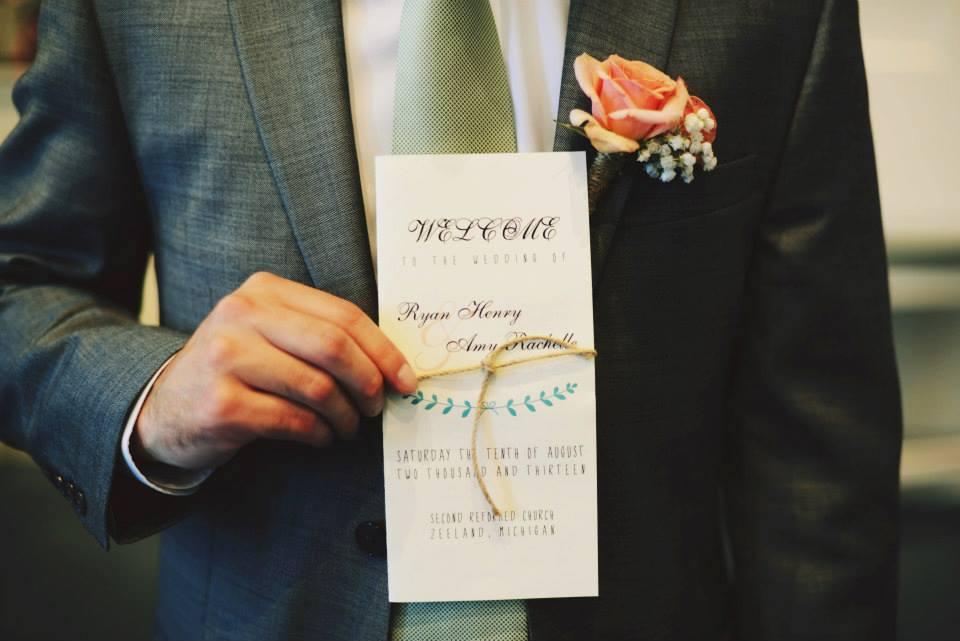 Wedding Program Design