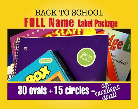 BACK TO SCHOOL Waterproof Labels for Kids