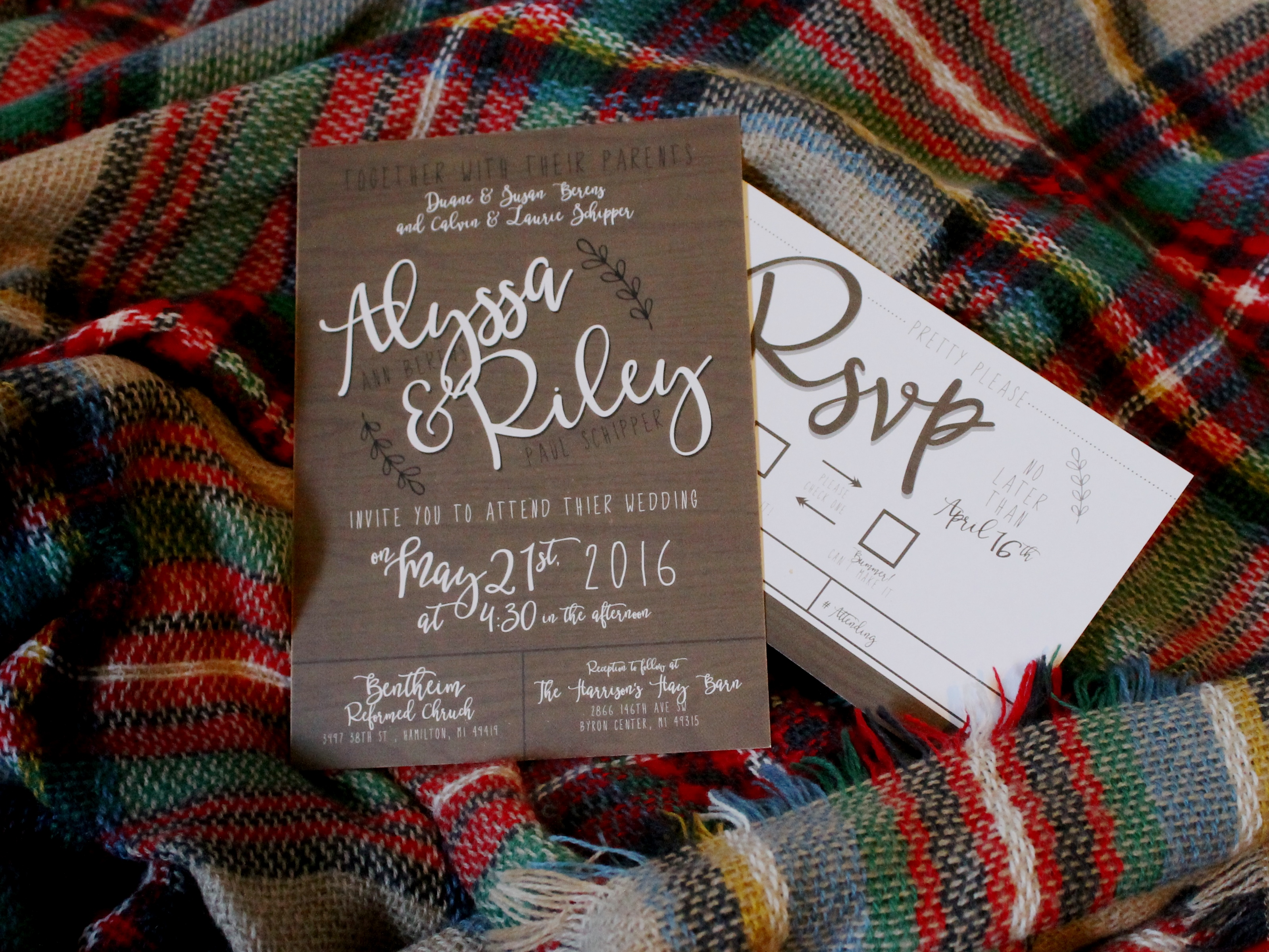 Wedding Invites - Approved Prints!