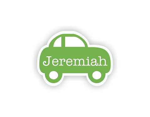 CAR SHAPE - Name Labels for Kids