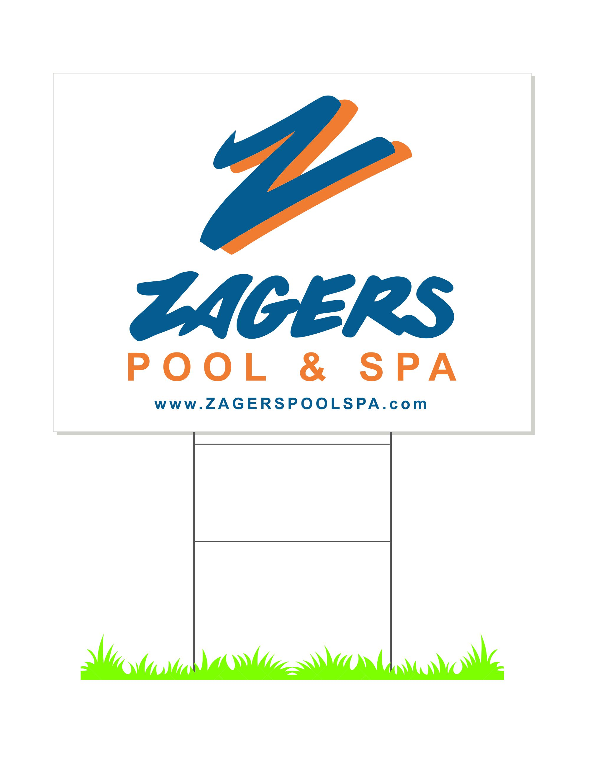 ZAGERS yard signs