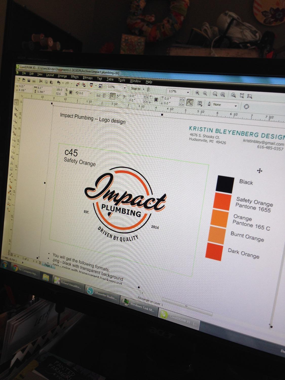Impact Plumbing Logo