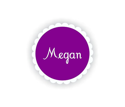 RUFFLE CIRCLE - Name Labels for Kids